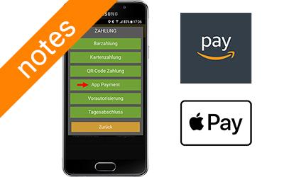 Payez dans le taxi avec Amazon Pay et Apple Pay